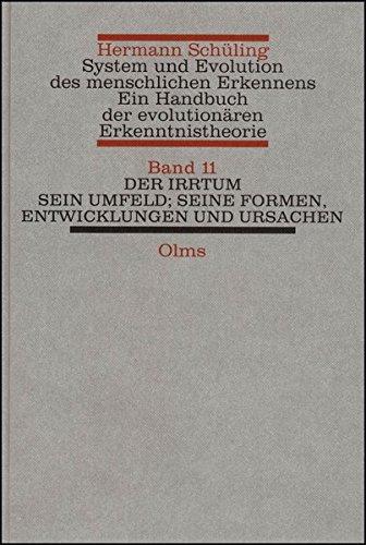 System und Evolution des menschlichen Erkennens. Ein Handbuch der evolutionären ...
