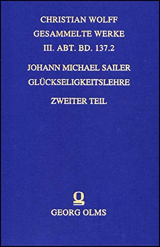 Glückseligkeitslehre: Johann Michael Sailer