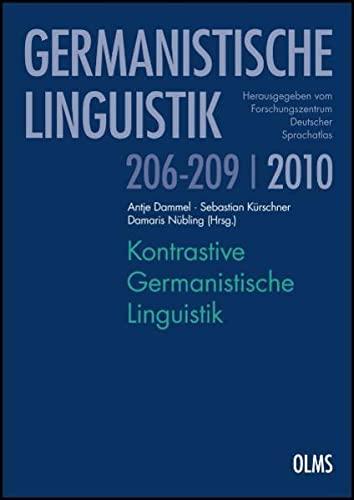 Kontrastive Germanistische Linguistik. 2 Bände: Damaris N�bling