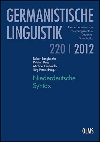 Niederdeutsche Syntax: Robert Langhanke
