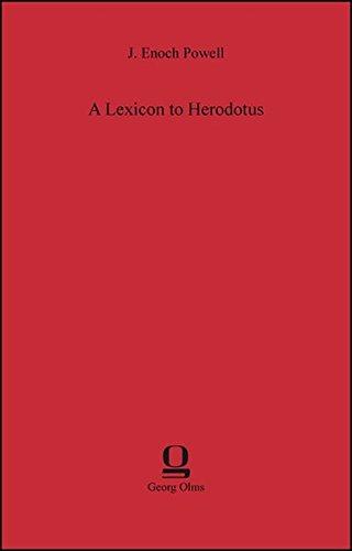 LEXICON TO HERODOTUS: POWELL, J.E.