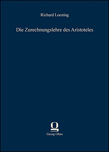 9783487303079: Die Zurechnungslehre des Aristoteles