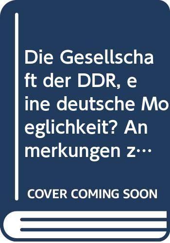 9783492003308: Die Gesellschaft der DDR