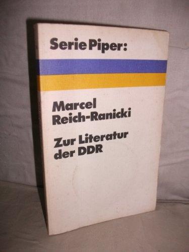 Zur Literatur in der DDR.: Reich-Ranicki.: