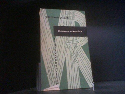 9783492006996: Shakespeares Monologe. Ein Zugang zu seiner dramatischen Kunst