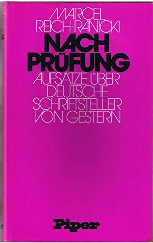 9783492021685: Nachprüfung: Aufsätze über deutsche Schriftsteller von gestern