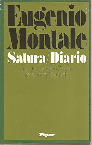 Satura; Diario. Aus d. späten Zyklen ;: Montale, Eugenio: