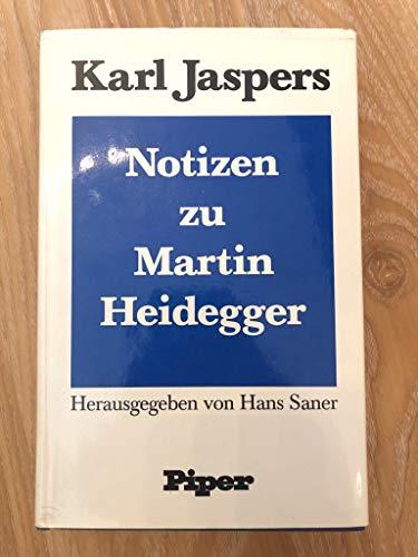Notizen zu Martin Heidegger (German Edition): Jaspers, Karl