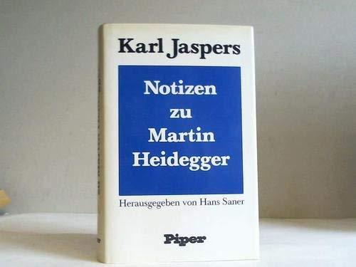 9783492023146: Notizen zu Martin Heidegger (German Edition)