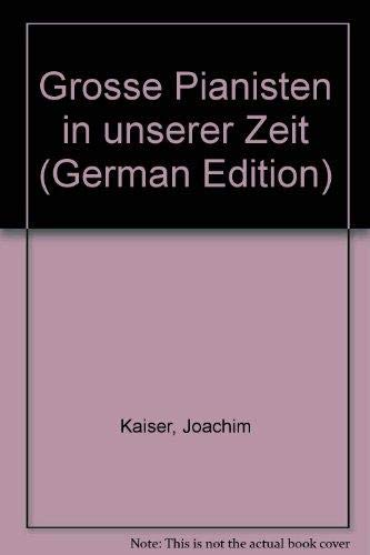 9783492028103: Grosse Pianisten in unserer Zeit (German Edition)