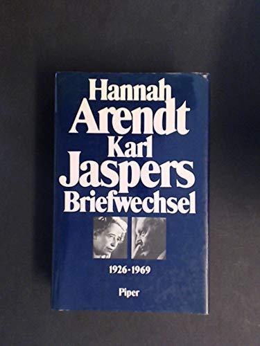 Hannah Arendt, Karl Jaspers: Briefwechsel 1926-1969: Köhler, Lotte; Saner,