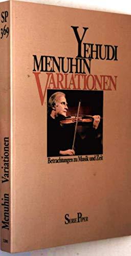 9783492103695: Variationen. Betrachtungen zu Musik und Zeit