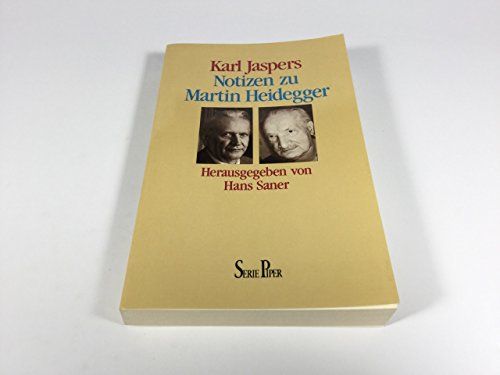 9783492110488: Notizen zu Martin Heidegger