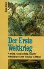 9783492119276: Der Erste Weltkrieg. Wirkung, Wahrnehmung, Analyse