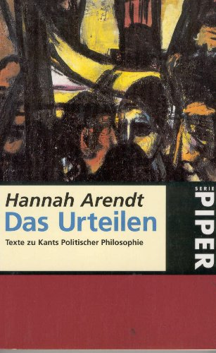 Das Urteilen (3492225608) by Arendt, Hannah