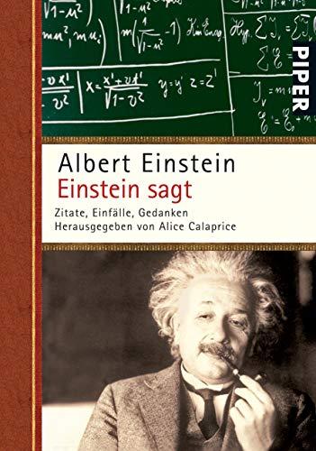 9783492250894: Einstein sagt: Zitate, Einfälle, Gedanken