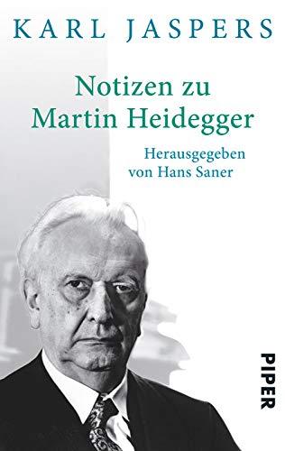 9783492303422: Notizen zu Martin Heidegger