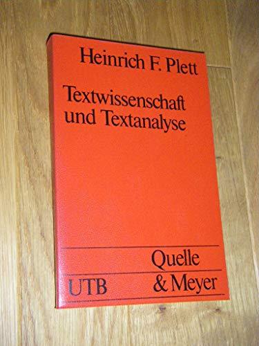 9783494020303: Textwissenschaft und Textanalyse: Semiotik, Linguistik, Rhetorik (Grundlagen der Sprachdidaktik)