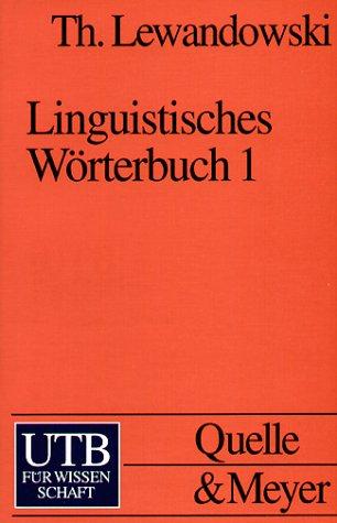 9783494021737: Linguistisches Wörterbuch 1/3.