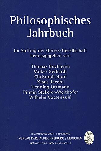 Philosophisches Jahrbuch 2004: Band 111.1: Buchheim, Thomas, Volker