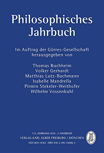 9783495450963: Philosophisches Jahrbuch: 123. Jahrgang 2016 - 2. Halbband (English and German Edition)