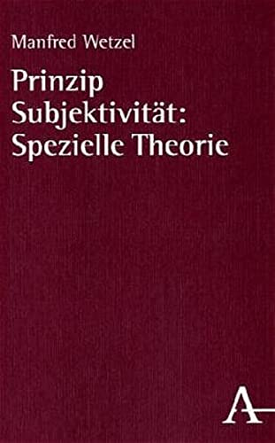9783495478547: Prinzip Subjektivität (German Edition)