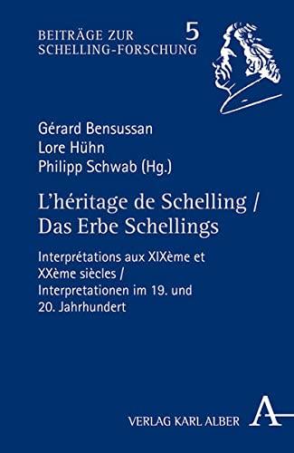 9783495486917: L'héritage de Schelling / Das Erbe Schellings