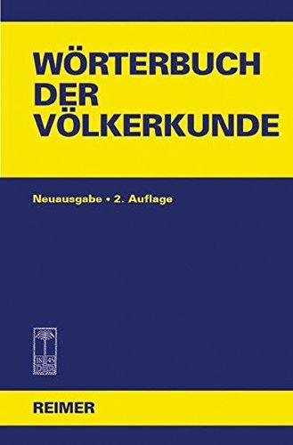 9783496026501: Wörterbuch der Völkerkunde: Mit 1250 Stichwörtern