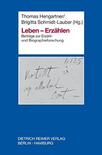 9783496027751: Leben - Erzahlen