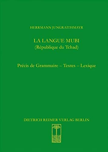La langue mubi (République du Tchad): Herrmann Jungraithmayr