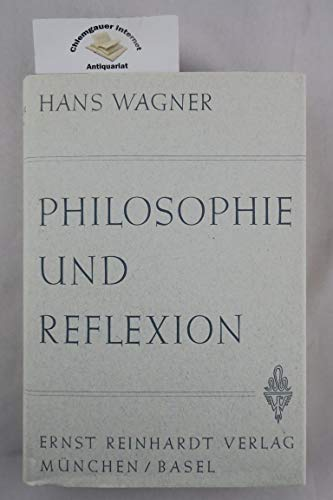 9783497009374: Philosophie und Reflexion