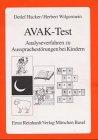 9783497014743: AVAK-Test zu Aussprachestörungen bei Kindern