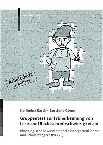 9783497022069: Gruppentest zur Früherkennung von Lese- und Rechtschreibschwierigkeiten: Phonologische Bewusstheit bei Kindergartenkindern und Schulanfängern (PB-LRS) - Arbeitsheft für Kinder