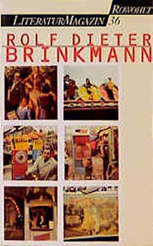 Rolf Dieter Brinkmann (Sonderheft) (German Edition)