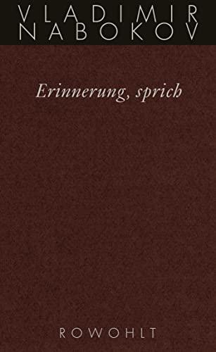 9783498046590: Gesammelte Werke 22. Erinnerung, sprich. Wiedersehen mit einer Autobiographie.