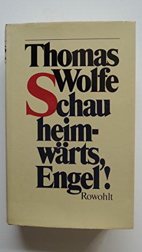 9783498072834: Schau heimwärts, Engel!: Eine Geschichte vom begrabnen Leben
