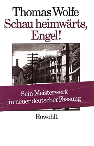9783498073084: Schau heimwärts, Engel (Neufassung): Eine Geschichte vom begrabenen Leben