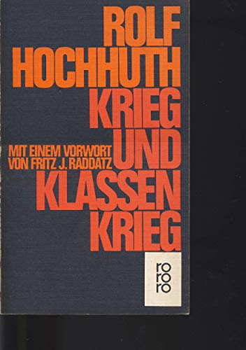 9783499114557: Krieg und Klassenkrieg. Studien