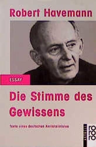 9783499128134: Die Stimme des Gewissens: Texte eines deutschen Antistalinisten (Rororo aktuell Essay) (German Edition)