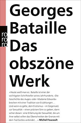 9783499128936: Das obszöne Werk.