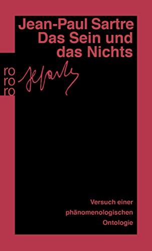 9783499133169: Das Sein und das Nichts: Versuch einer phänomenologischen Ontologie. (Gesammelte Werke in Einzelausgaben / Philosophische Schriften, 3)