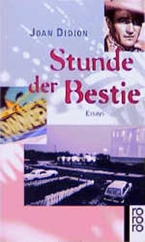 9783499134838: Stunde der Bestie. Essays