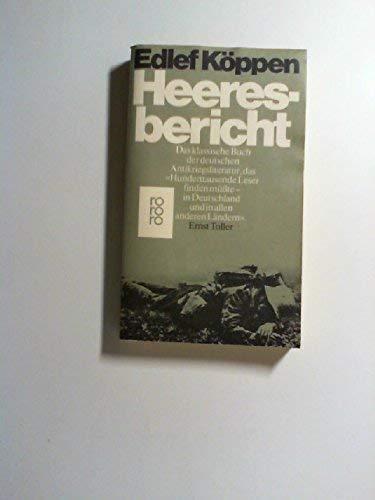 9783499143182: Heeresbericht