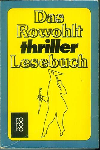 9783499152016: Das Rowohlt thriller Lesebuch.