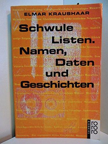9783499196720: Schwule Listen. Namen, Daten und Geschichten.