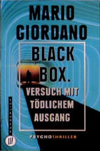 9783499261466: Black Box Versuch Mit Tödlichem Ausgang ; Psychothriller