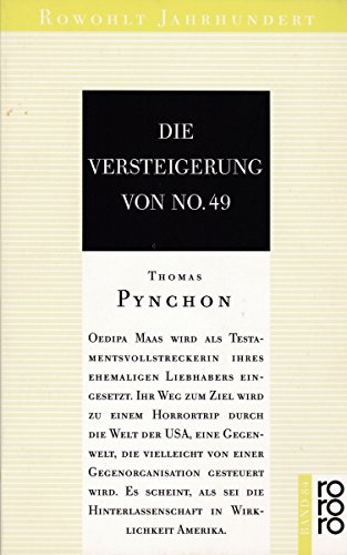9783499400841: Die Versteigerung von No. 49. Roman