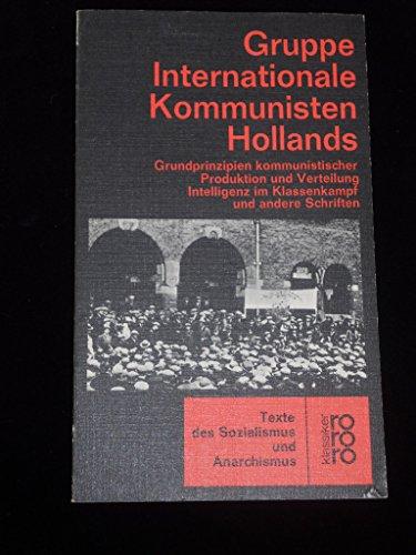 9783499452857: gruppe_internationale_kommunisten_hollands