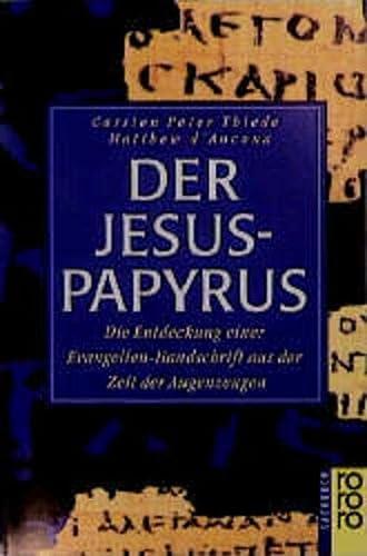 9783499601033: Der Jesus- Papyrus