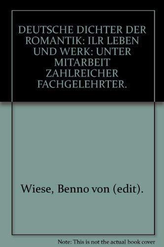 9783503005000: Deutsche Dichter der Romantik: Ihr Leben und Werk.